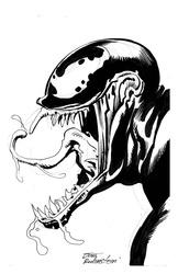 Venom - BW Drawing 3