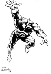 Black Panther - BW Drawing