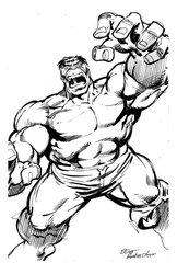 Hulk - BW Drawing 1