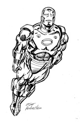 Iron Man - BW Drawing 1