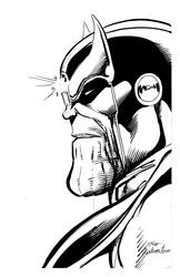 Thanos - BW Drawing 1