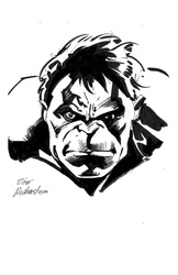 Hulk - BW Drawing 2