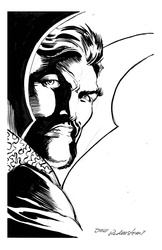 Doctor Strange - BW Drawing