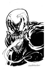 Venom - BW Drawing 2