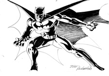 Batman - BW Drawing 2
