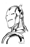 Iron Man - BW Drawing 2