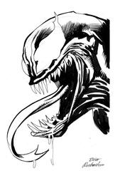 Venom - BW Drawing 1