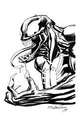 Venom - BW Drawing 4