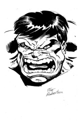Hulk - BW Drawing 3