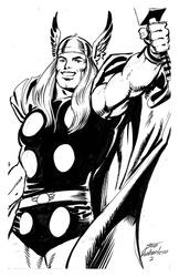 Thor - BW Drawing