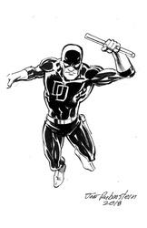 Daredevil - BW Drawing 2