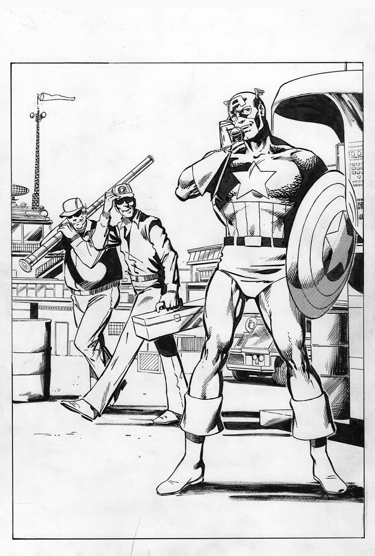 Captain America 256, P.1: Joe Rubinstein Inks, John Byrne Pencils