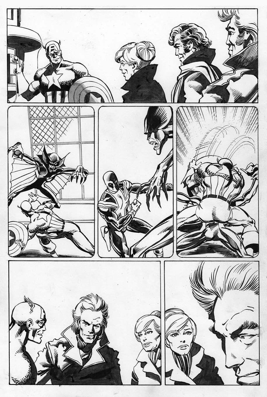 Captain America 256, P.3: Joe Rubinstein Inks, John Byrne Pencils