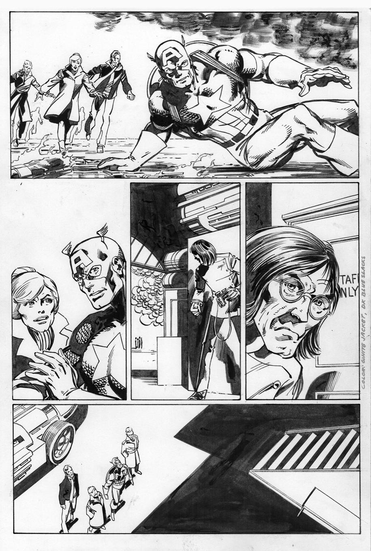 Captain America 256, P.5: Joe Rubinstein Inks, John Byrne Pencils