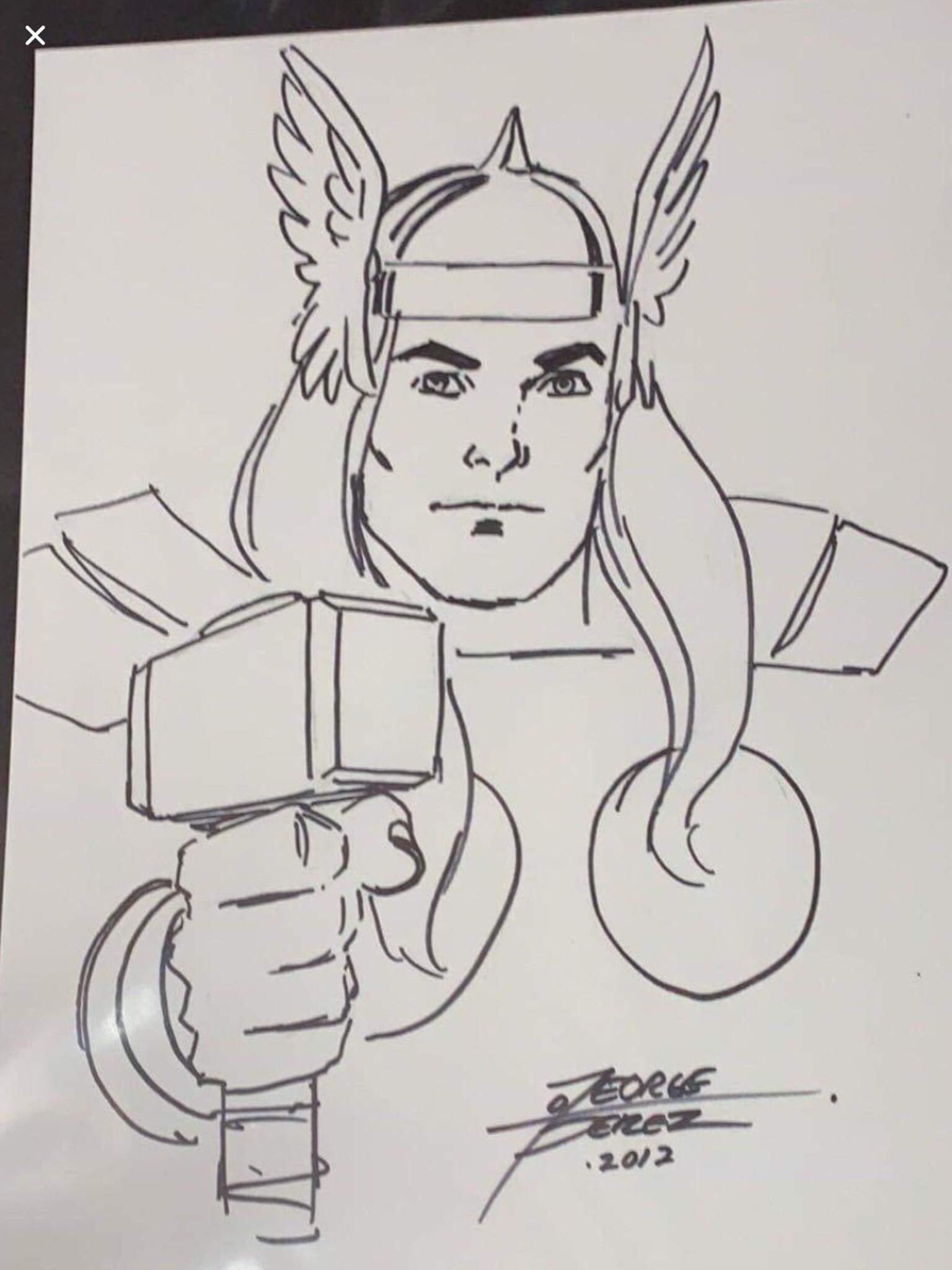 Thor: Before, George Perez Pencils