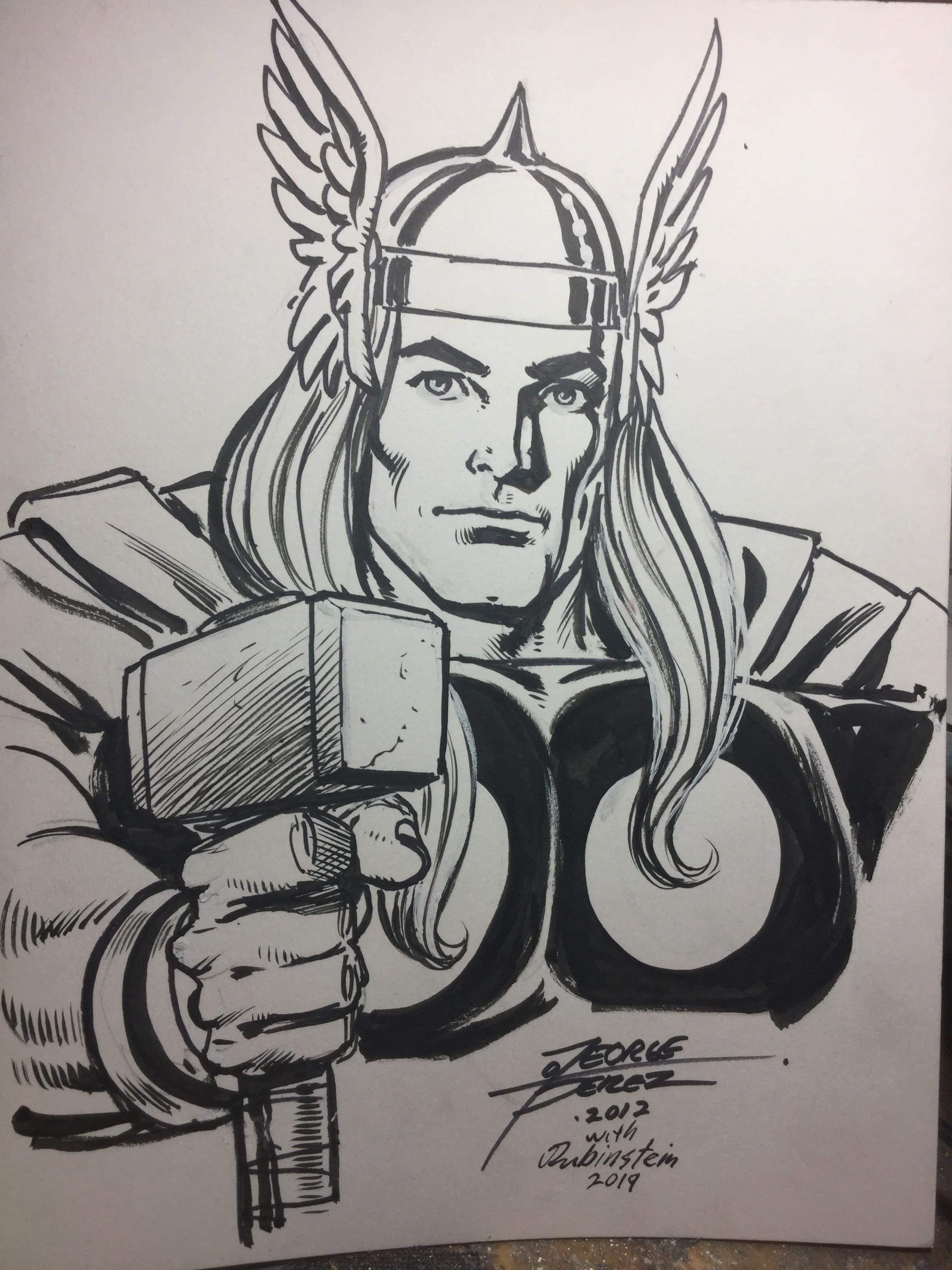 Thor: After, Inked by Joe Rubinstein