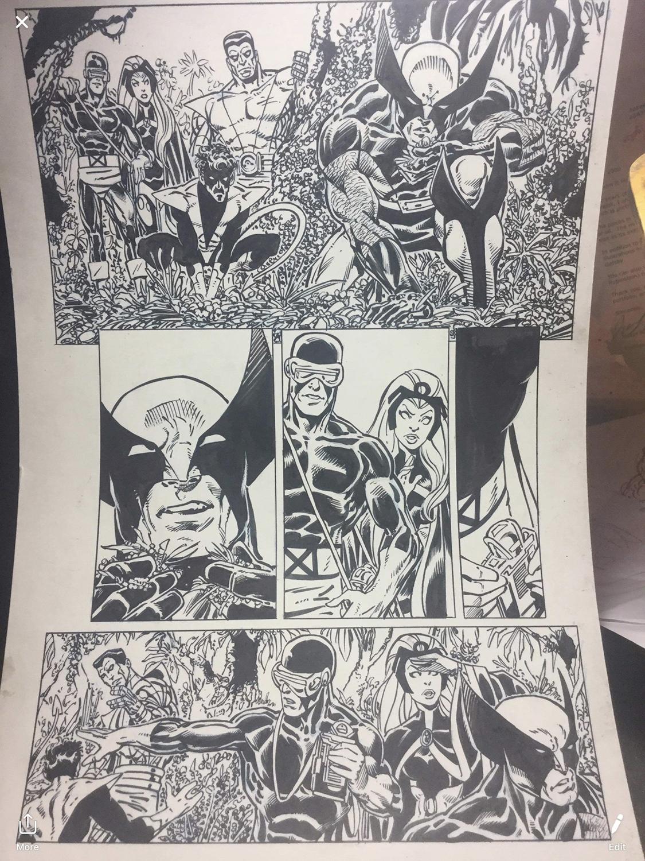 X-Men: Joe Rubinstein Inks, John Byrne Pencils